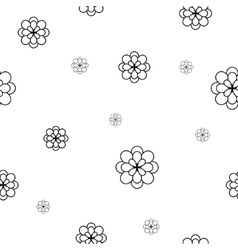 Flowers chaotic seamless pattern 2403 vector image