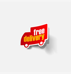 Free delivery shipping labels vector