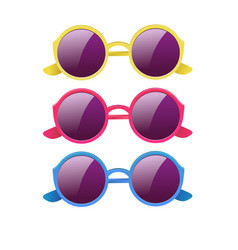 glasses with round lenses vector image