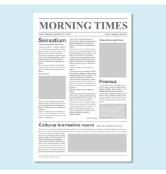 Graphical design newspaper journal vector image