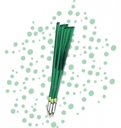 green onions vector image