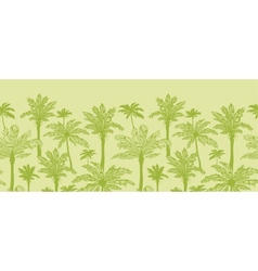 Green palm trees horizontal seamless pattern vector image