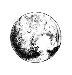 hand drawn planet pluto vector image
