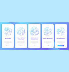 Intermittent fasting benefits blue onboarding vector