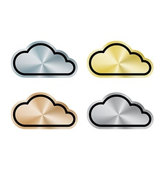 Internet cloud of platinum gold silver bronze vector image