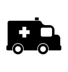 isolated ambulance icon vector image