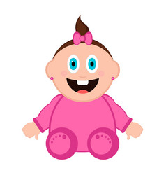 isolated happy baby vector image