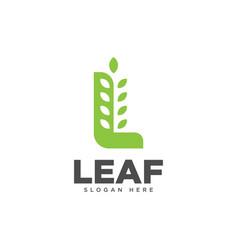 Letter l leaf logo design template vector