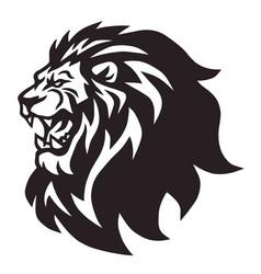 lion head roaring logo mascot cartoon vector image