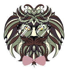 Lion Hipster5 vector