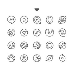 logos ui pixel perfect well-crafted thin vector image
