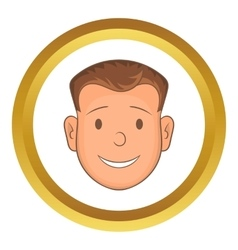 Male face icon vector