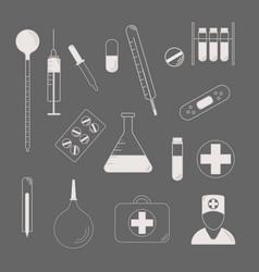 Medical character set lat design style medical vector