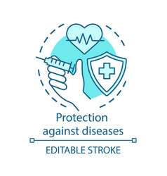medical protection against diseases concept icon vector image