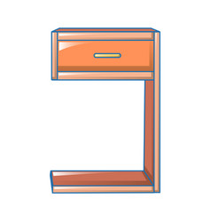 modern bedside icon cartoon style vector image