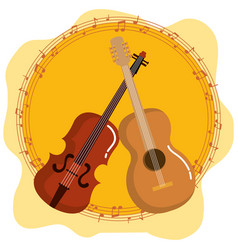 music festival live with violin and guitar vector image