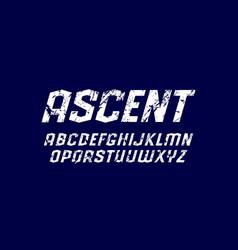 oblique sans serif font in sport style vector image