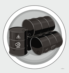 Oil tank vector