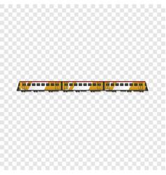 passenger train icon cartoon style vector image
