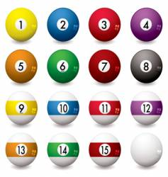 pool balls vector image