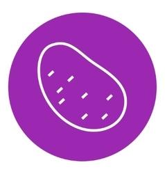 Potato line icon vector