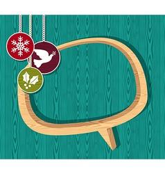 Retro wooden Christmas set vector image