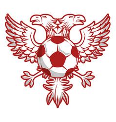 Russia eagles soccer emblem vector