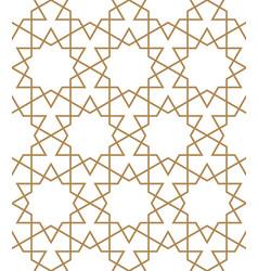 Seamless arabic geometric ornament in brown vector