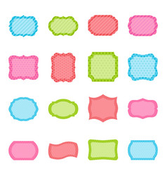 Set of colorful frames vector