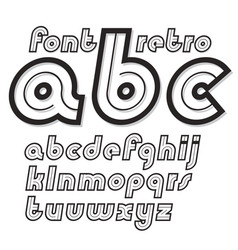 Set of cursive retro lower case english alphabet vector