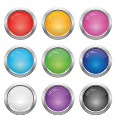 set round buttons vector image