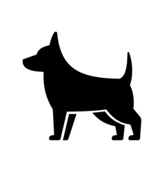 Simple Dog Icon on White Background vector image