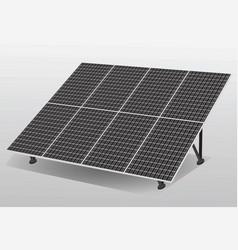 Solar cells panel vector