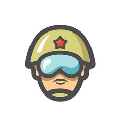 Soldier military army icon cartoon vector