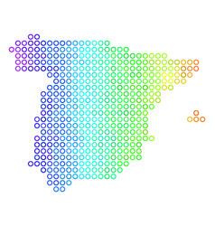 Spectrum cirle dot spain map vector