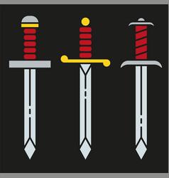 sword icon symbol set vector image