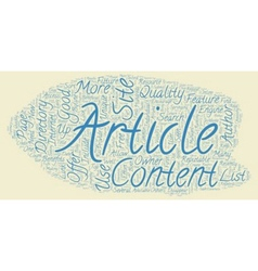 The Future Of Article Directories text background vector image