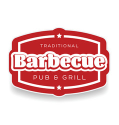 traditional barbecue pub and grill sign vector image