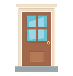traditional house door design vector image