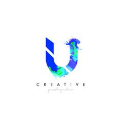 u letter icon design logo with creative artistic vector image