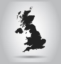 united kingdom map black icon on white background vector image