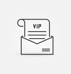 vip mail in envelope concept icon in vector image