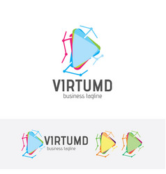 virtual media logo vector image
