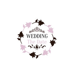 wedding ornament vector image
