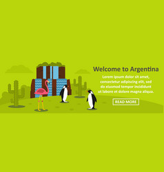 Welcome to argentina banner horizontal concept vector
