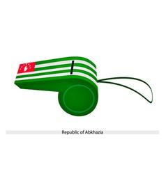 White and Green Stripe on Abkhazia Whistle vector image
