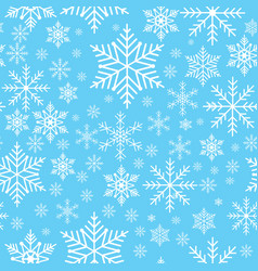 winter snowflakes seamless background pattern vector image