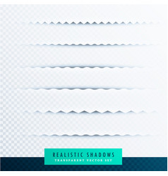zigzag paper shadows effect collection on vector image