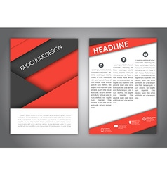 Brochures in the style of the material design vector image