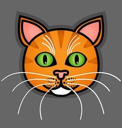 Cartoon orange cat vector